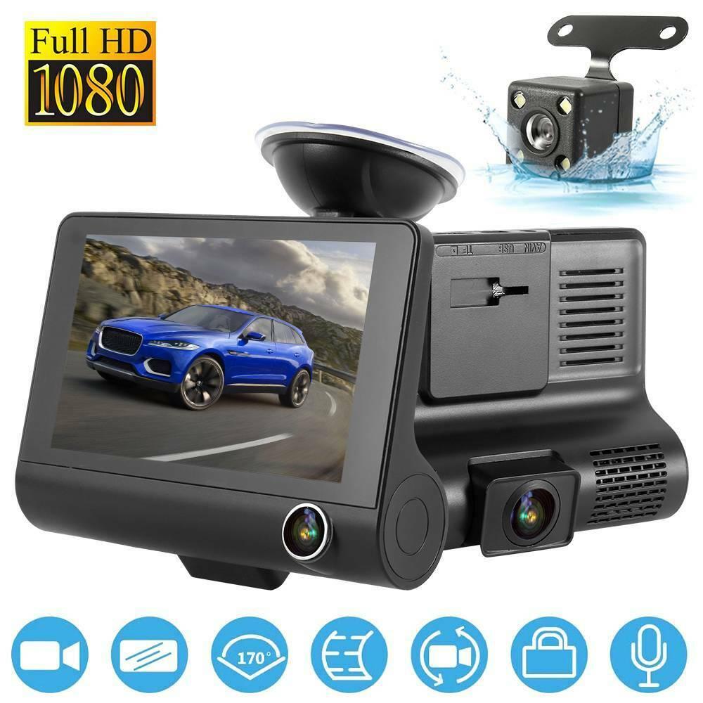 Grand-angle 2.4 pouces HD 1080 P voiture DVR cam/éra avant arri/ère Dash Cam enregistreur vid/éo D/étection de mouvement G-Sensor Cam/éscope v/éhicule noir